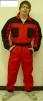 Kombinéza ROMAN bavlna červeno/černá velikost 54
