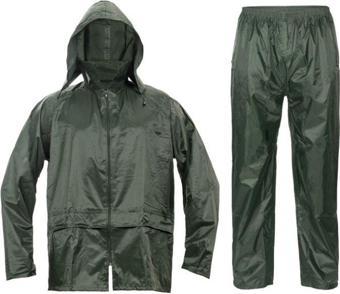 Oblek CARINA polyester potažený polyurethanem kapuce zelený velikost XL