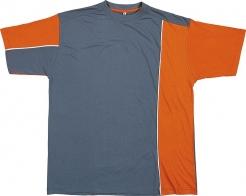 Triko Mach 2 krátký rukáv oranžovo/šedé velikost L