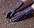 Rukavice latex průmyslové černé velikost XL