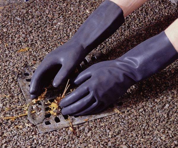 Rukavice latex průmyslové černé velikost S