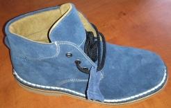 Obuv Clyde semišová kotníčková modrá velikost 38