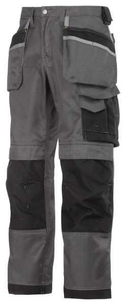 Kalhoty SNICKERS DuraTwill šedo/černé velikost 54