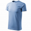 Triko Basic kulatý průkrčník 100% bavlna 160g nebezské modré velikost XXXL