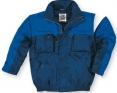 Bunda KIRUNA zateplená odepínatelné rukávy tmavě modrá/světle modrá velikost M