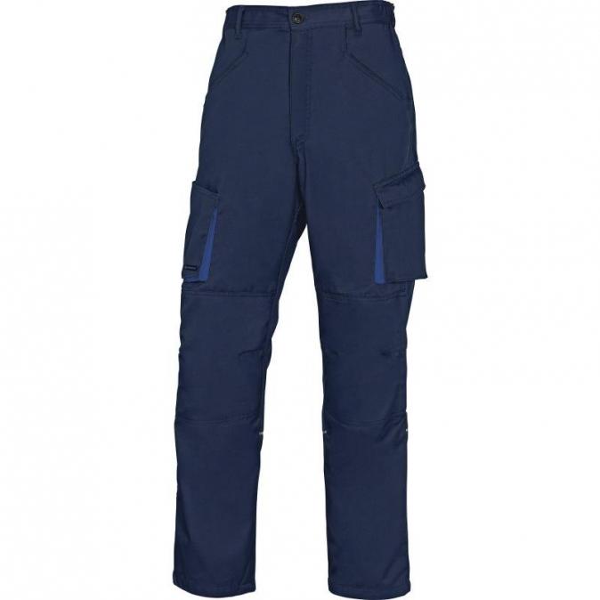 Montérkové kalhoty MACH 2 do pasu tmavě modrá/světle modrá velikost L