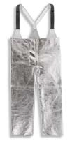 Ochranné žáruodolné pokovené kalhoty KF3/Z slévačské nastavitelné šle velikost L