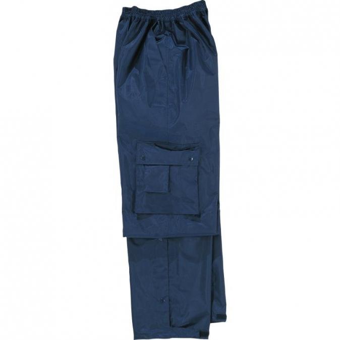 Kalhoty TYPHOON do pasu nepromokavé tmavě modré velikost XXL