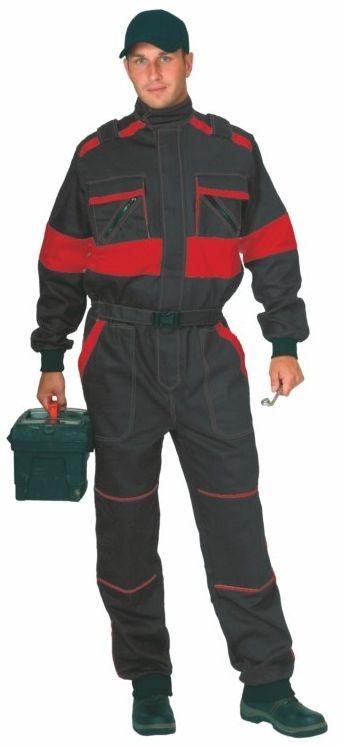 Kombinéza LUX ROBERT černo/červená velikost 50