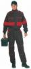 Kombinéza LUX ROBERT černo/červená
