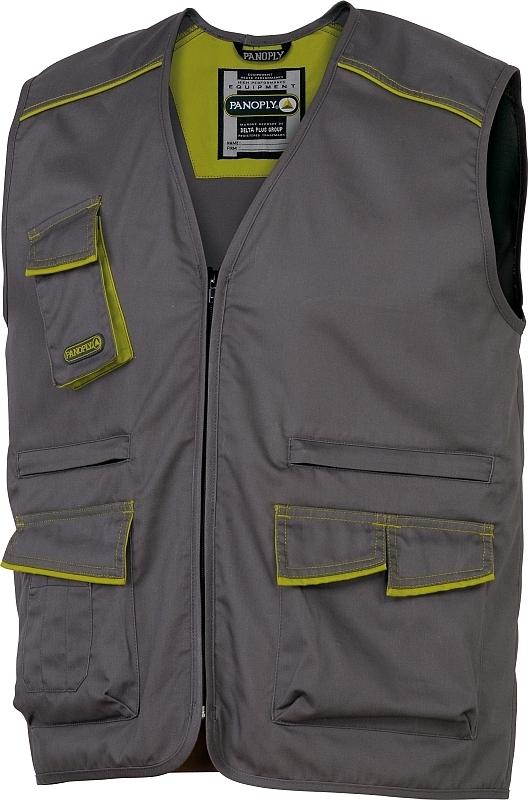 Montérková lehká vesta MACH 6 PANOTYLE šedo/zelená velikost XL
