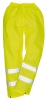 Kalhoty Hi-Vis materiál polyester laminovaný PVC výstražná žlutá velikost M