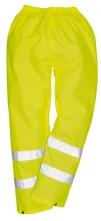 Kalhoty Hi-Vis materiál polyester laminovaný PVC výstražná žlutá velikost XL