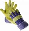 Rukavice TERN kombinované textil/hovězí štípenka žlutá