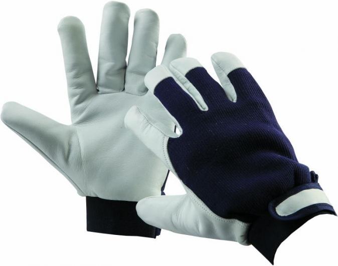 Rukavice CERVA PELICAN BLUE WINTER kombinované kozinka/textil zateplené velikost 9