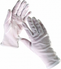 Rukavice CERVA KITE bavlna bílé bez manžety velikost 9