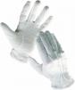 Rukavice CERVA BUSTARD bavlněné PVC čočka stažené do gumičky bílé