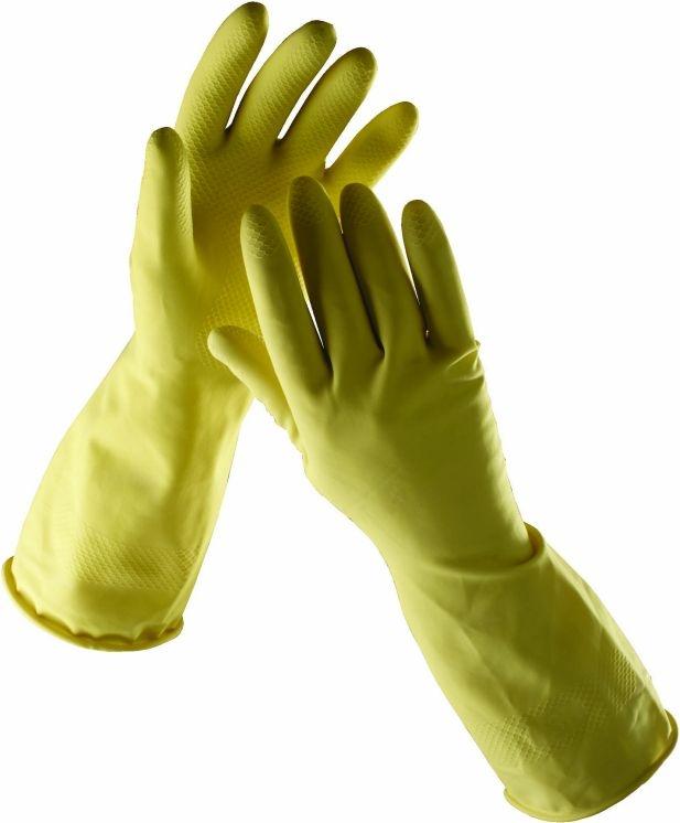 Rukavice CERVA STARLING latexové tenké bez podšívky žluté velikost M