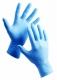 Rukavice BARBARY jednorázové 100 ks nitrilové pudrované modré velikost M