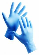 Rukavice BARBARY jednorázové 100 ks nitrilové pudrované modré