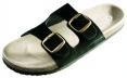 Obuv PUDU pantofle korková podešev černé velikost 43