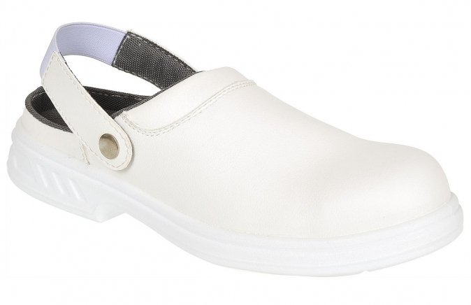 Obuv Steelite™ Safety Clog SB bezpečnostní pásek přes patu bílá velikost 45