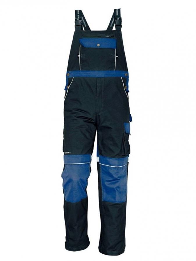 Montérkové kalhoty STANMORE s laclem tmavě modré/světle modré velikost 48