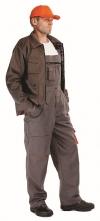 Montérkové kalhoty DESMAN WINTER laclové zateplené šedo/oranžové velikost 58
