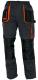 Montérkové kalhoty EMERTON do pasu černo/šedo/oranžové velikost 54