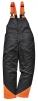 Kalhoty OAK s laclem pro práci s motorovou pilou černo/oranžové velikost XL