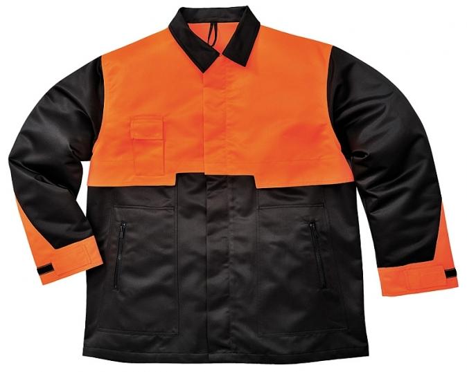 Blůza OAK pro práci s motorovou pilou černo/oranžová velikost XXL