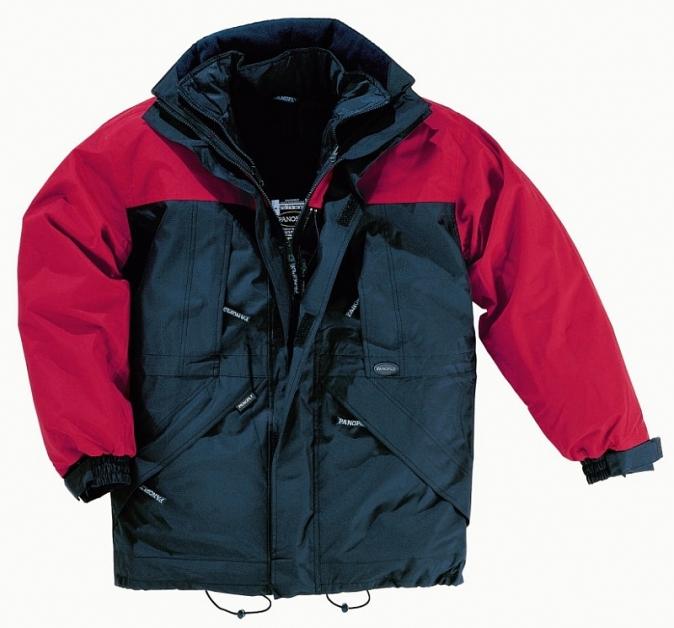 Bunda ALASKA s vyjímatelnou vložkou tmavě modrá/červená velikost S