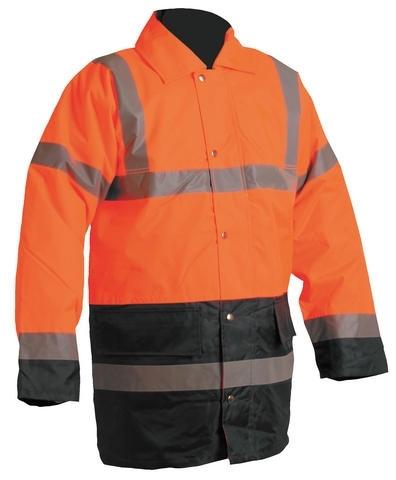 Bunda SEFTON zateplená reflexní výstražná oranžová/modrá velikost XL