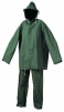 Oblek HYDRA PVC/polyester kalhoty pas a blůza s kapucí zelený velikost XL