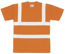 """Triko PW do """"véčka"""" výstražné reflexní pruhy oranžové velikost XL"""