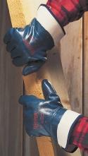 Rukavice Ansell HYCRON celovrstvené nitrilovým kaučukem pevná manžeta velikost 9