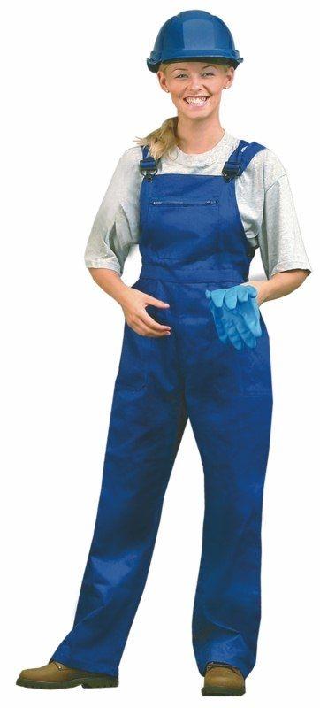 Montérkové kalhoty YVONA laclové dámské tmavě modré velikost 52