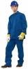Montérkový komplet JARDA blůza a kalhoty do pasu středně modrý prodloužený