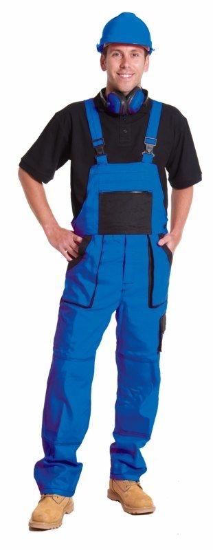 Montérkové kalhoty LUX EMIL s laclem modro/černé velikost 48