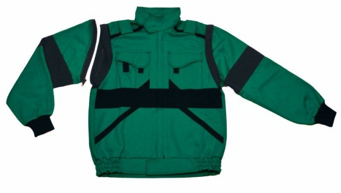 Montérková blůza CXS LUXY EDA s odepínacími rukávy zeleno/černá velikost 58