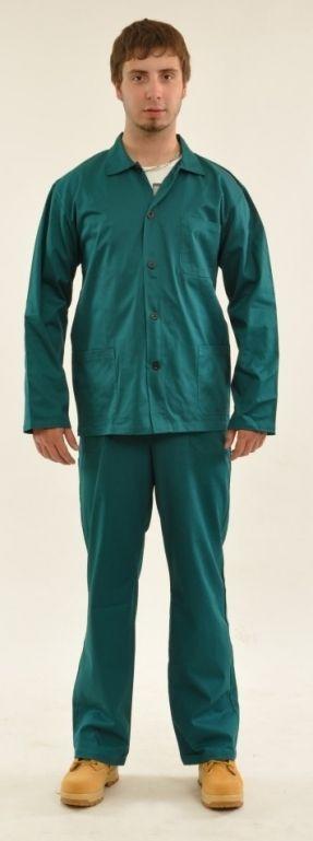 Montérkové kalhoty STANDARD do pasu tmavě zelené