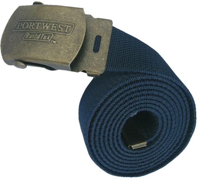 Opasek elastický pletený PES tmavě modrý
