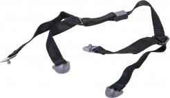 Podbradní 4-bodový pásek pro přilby PROTECTOR černý