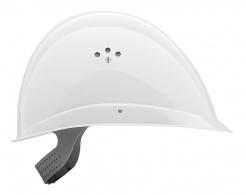 Přilba VOSS PROFILER kompaktní tvar zkrácený štítek bílá