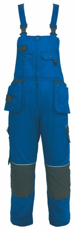 Montérkové kalhoty ORION KRYŠTOF s laclem modro/černé velikost 56