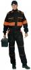 Kombinéza LUX ROBERT černo/oranžová velikost 52