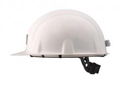 Ochranná hornická přilba PROTECTOR STYLE 600 ABS lampový držák bílá