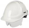 Přilba PROTECTOR STYLE 600 ABS ventilovaná oční štít bílá