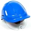 Ochranná přilba PROTECTOR STYLE 600 ABS ventilovaná oční štít modrá