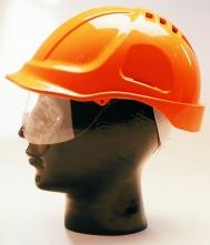Přilba PROTECTOR STYLE 600 ABS ventilovaná štít oranžová